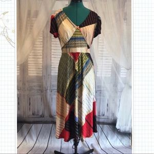 Frock Shop ModCloth patchwork dress size large